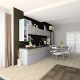 2017現代光沢度の高い台所家具および食器棚