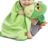 Großverkauf-netter Baby-Plüsch-mit Kapuze Zudecke