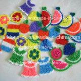 Koreanische handgemachte Häkelarbeit-Teller-Wäsche Scrubbies Wäscher-Tuch-Küche-Schwämme