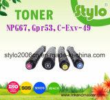 Voor consumptie geschikte Toner van de Printer van het Kopieerapparaat van de Kleur van de Laser Patroon npg67/C-Exv-49/Gpr53 voor de Printer van de Canon C3330/C3320/C3325