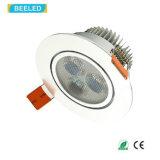 alta calidad blanca fresca LED Downlight de Dimmable de la luz del punto 3W