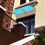 Toldo do aço inoxidável do telhado com folha do policarbonato