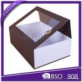 Коробка крупноразмерного ясного подарка вина окна складного упаковывая
