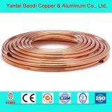 Tube de la bobine de cuivre rouge pour la réfrigération de la climatisation