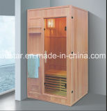 sauna di legno solido di rettangolo di 1200mm per 2 persone con il portello di vetro (AT-8649)