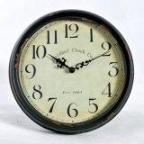 Retro orologio del metallo della parete dell'annata rotonda della decorazione
