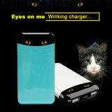 batería portable de la potencia 10000mAh con el cargador Twinkling del teléfono móvil de la manera de los ojos de gato