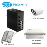 8 Kanäle 10/100 Poe-Ethernet-Schalter-industrieller Schalter