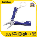6-en-1 Multitool de bolsillo con una pinza de acero inoxidable brillante LED