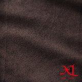 Полиэфир темного Brown одна бортовая ткань замши для софы/одежды