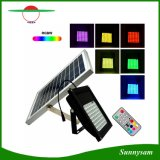 56 o diodo emissor de luz IP65 Waterproof o projector decorativo do jardim de controle remoto solar da jarda da paisagem da luz de inundação RGBW