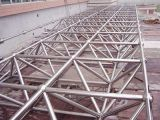 Roofing 材料の円形の鉄骨構造の鋼鉄トラス