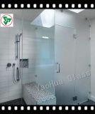 10mm escarchado vidrio templado de clara de ducha