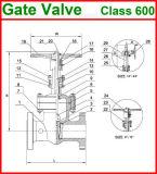 o aço de molde 1500lb flangeou a válvula de porta da extremidade (GAZ40W)