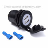 Voiture 5V 3.1A Douille double USB avec LED bleu Chargeur Socket Power Adapter