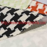 Tecido em tecido de poliéster Fibra de fibra química Tecido tingido Jacquard para casaco de vestir feminino Vestuário para crianças Têxtil doméstico