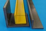 Canal de FRP, tubos cuadrados, perfiles de la fibra de vidrio GRP, dimensiones de una variable de FRP