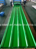 Feuille ondulée colorée de toiture/tôle d'acier galvanisée enduite par couleur