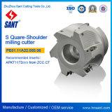 Haltbare indexierbare CNC-Prägescherblock-quadratische Schulter Prägehilfsmittel abgeglichene Apkt Einlagen mit Qualitäts-und Nickel-Beschichtung