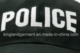 Bordado militar negro militar de la policía del tal gorro de camionero