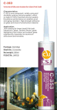 Sellante ácido del silicón para la ingeniería de cristal