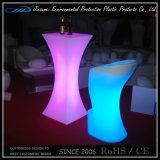 Chaise en plastique à LED moderne en plastique avec changement de couleur