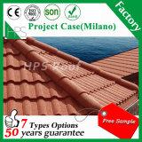 Type neuf tuiles de Milan de toit enduites en métal de pierre