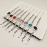 Heißes Verkaufs-Kupfer-Form-Armband mit blauem und weißem Diamanten