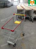 Carretilla conveniente de las compras de la tienda al por menor del supermercado del estilo del caddie