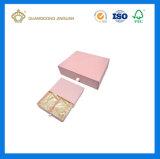 Rectángulo de papel del color del regalo rosado lleno de Handmaded (con la bandeja del paño del satén)