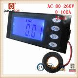 Времени энергии тока напряжения AC 100A 5in1 метр в настоящее время цифровой