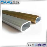 Tubo redondo de aluminio anodizado brillantez