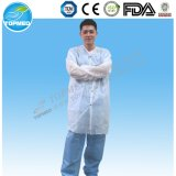 Desechable Lab de laboratorio de laboratorio / White Lab Coat / Cheap Lab Jackets