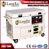 generatore diesel portatile silenzioso del motore diesel 7.5kVA 6kw di 50Hz Cina