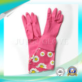 Luvas protetoras do látex do trabalho da limpeza da segurança com alta qualidade