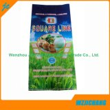 Con la impresión de polipropileno tejido reciclado Bolsa blanca de alimentación de 50kg.