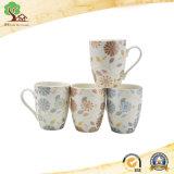 11oz Hunan 공장에 있는 귀여운 꽃 디자인을%s 가진 대중적인 인쇄 세라믹 커피잔