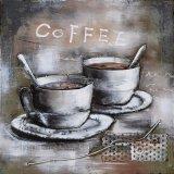 喫茶店のための現代3つのDの金属の絵画
