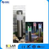 Indicatore luminoso chiaro solare della colonna di ormeggio della colonna LED dell'acciaio inossidabile con colore cambiante LED di RGB