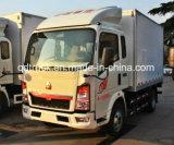 3-5 톤 폐쇄함 트럭, HOWO 상자 트럭