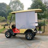 セリウムは4 Seater日曜日の陰が付いている電気ハンチングゴルフカートを承認した