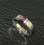 도매 바디 보석 철사에 의하여 삭감되는 스테인리스 반지 (CZR2589)
