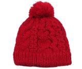 Зимние акриловый жаккард Beanie Red Hat Custom вязки Beanie POM POM Red Hat