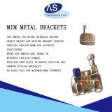 Corchete ortodóntico dental del metal con los ganchos de leva