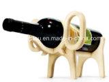 Portes-bouteilles créatrices de vin d'éléphant de forme de crémaillère animale de vin