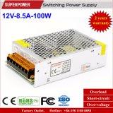 LEDの照明のための12V 8.5A 100Wの切換えの電源