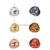 Lámpara pendiente colgante de acrílico del oro LED del derretimiento de la iluminación de la decoración de interior moderna