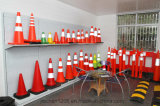 Jiachen cone vermelho de um tráfego de 28 polegadas com faixa reflexiva