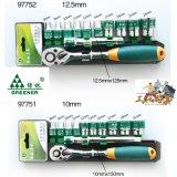 Ключ храповика быстро отпуска Greenery с ручкой запатентованной резиной