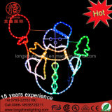 Bonhomme de neige imperméable à l'eau de DEL 2D avec la lumière de motif de corde de décoration de Noël d'étoile pour le jardin